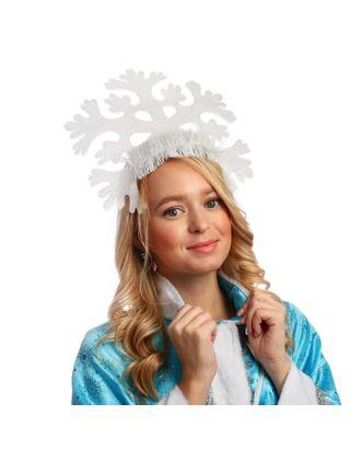 Кокошник «Снежинка средняя» арт. СМЛ-120917-1-СМЛ0003613303