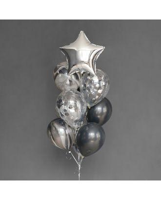 Фонтан из шаров «На стиле», латекс, фольга, 10 шт. арт. СМЛ-121010-1-СМЛ0003622313