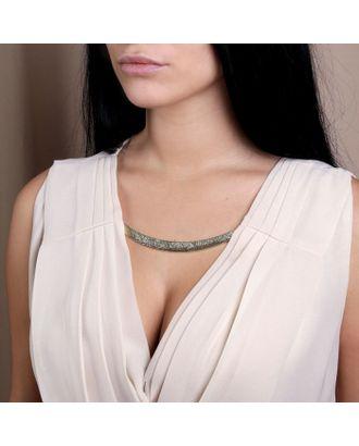 Декоративное пришивное украшение, 14,5 × 3,5 см, цвет золотой арт. СМЛ-12824-1-СМЛ3628103