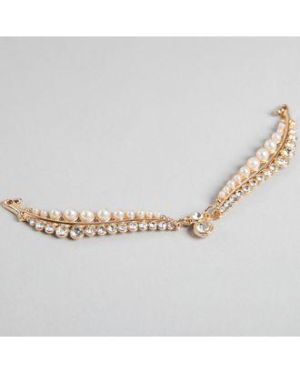 Декоративное пришивное украшение, 13 × 5 см, цвет золотой арт. СМЛ-12826-1-СМЛ3628116
