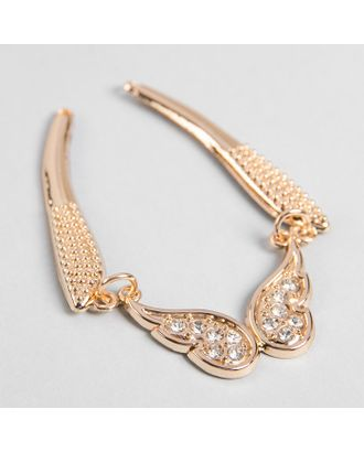 Декоративное пришивное украшение «Бабочка», 12 × 5 см, цвет золотой арт. СМЛ-12827-1-СМЛ3628119