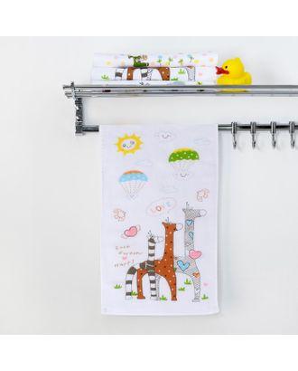 """Полотенце двухстороннее Крошка Я """"Жирафы"""" 25 х 50 см, 100% хлопок арт. СМЛ-12953-1-СМЛ3633292"""