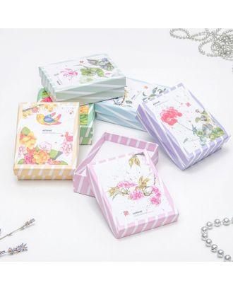 """Коробочка подарочная под набор """"Flowers"""", 7*9 (размер полезной части 6,5х8,5см), цвет МИКС арт. СМЛ-12976-1-СМЛ3636726"""