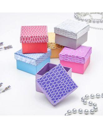 """Коробочка подарочная под набор """"Рептилия"""" принт, 9*9 (размер полезной части 8,3х8,3см) арт. СМЛ-22802-2-СМЛ3636889"""