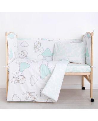 """Комплект в кроватку (6 предметов) """"Маленький ангел"""", бязь, хл100% арт. СМЛ-26437-1-СМЛ3637874"""