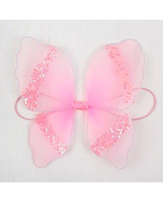 """Миниатюра кукольная-крылья на резинке """"Блеск"""", цв.розовый арт. СМЛ-13060-1-СМЛ3649858"""