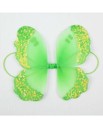 """Миниатюра кукольная-крылья на резинке """"Сияние"""", цв.зеленый арт. СМЛ-13063-1-СМЛ3649883"""