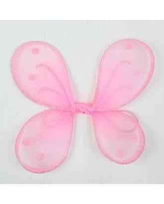 """Миниатюра кукольная-крылья на резинке """"Блестки"""", цв.розовый арт. СМЛ-13066-1-СМЛ3649913"""