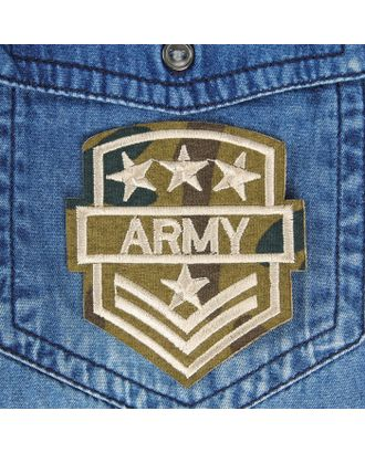 Термоаппликация «Army» р.6,5х7 см арт. СМЛ-13164-1-СМЛ3656018