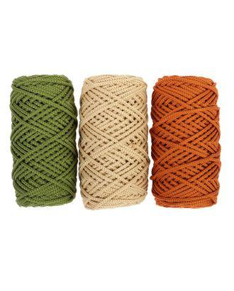 Шнур для вязания полиэфирный, 3 мм, 50 м / 105 г, набор 3 шт. (комплект 2) арт. СМЛ-40135-1-СМЛ0003676591