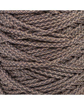 Шнур для вязания с сердечником 100% полиэфир, ширина 5 мм 100м/550гр (142 т. серый) арт. СМЛ-40118-21-СМЛ0003677862
