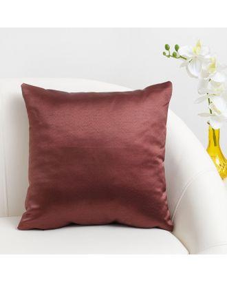 Декоративная подушка «Этель» 40×40 см Дамаск AMBER SOLID, 100% п/э арт. СМЛ-24394-3-СМЛ3679800