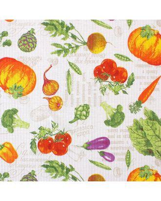 """Скатерть """"Доляна""""  Овощи 145х144 см, 100% хлопок,вафельное полотно, 162 г/м2 арт. СМЛ-19793-4-СМЛ3680146"""