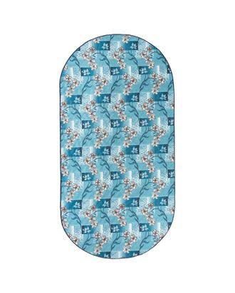 Палас овальный АФРОДИТА, размер 200х300 см, цвет синий 50/25 войлок 195 г/м2 арт. СМЛ-22729-1-СМЛ3681915
