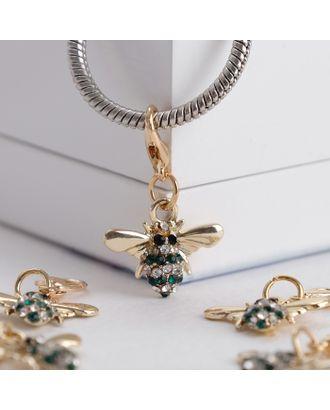 """Шарм """"Пчелка"""" труженица, цв.бело-зеленый в золоте арт. СМЛ-13730-1-СМЛ3693535"""
