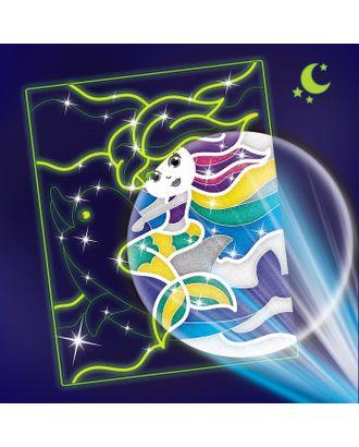 """Лунная фреска """"Русалка и дельфин"""", светящийся песок+блестки арт. СМЛ-13814-1-СМЛ3699749"""