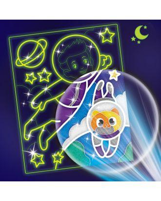 """Лунная фреска """"Приключения в космосе"""", светящийся песок+блестки арт. СМЛ-13817-1-СМЛ3699927"""