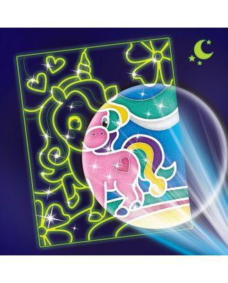 """Лунная фреска """"Волшебный единорог"""", светящийся песок + блёстки арт. СМЛ-13818-1-СМЛ3700022"""