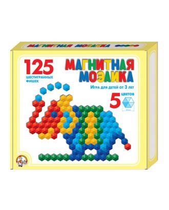 Мозаика магнитная шестигранная, 5 цветов, 125 элементов арт. СМЛ-13819-1-СМЛ3700029