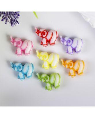 """Декор для творчества пластик """"Слоник"""" цветной набор 20 шт 1,5х2,2 см арт. СМЛ-13857-1-СМЛ3701805"""