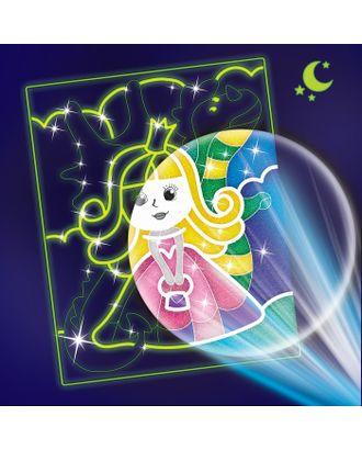 """Лунная фреска """"Принцесса и дракон"""", светящийся песок+блестки арт. СМЛ-13930-1-СМЛ3704992"""