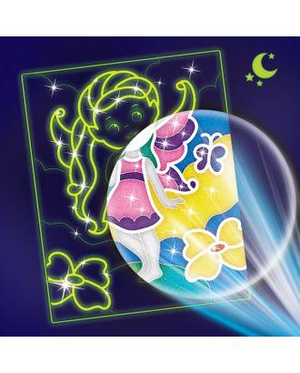 """Лунная фреска """"Маленькая волшебница"""", светящийся песок+блестки арт. СМЛ-13933-1-СМЛ3705093"""