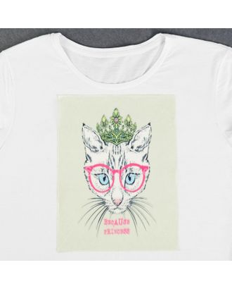 Пришивная аппликация «Кошка в очках», 3D, 27 × 20 см арт. СМЛ-13992-1-СМЛ3710518
