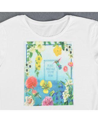 Пришивная аппликация «Цветы», 3D, 27 × 20 см арт. СМЛ-13995-1-СМЛ3710548