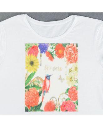 Пришивная аппликация «Flowers», 3D, 27 × 20 см арт. СМЛ-13997-1-СМЛ3710580