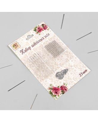 Иглы швейные с нитевдевателем «Ассорти», 23 шт арт. СМЛ-14001-1-СМЛ3711676
