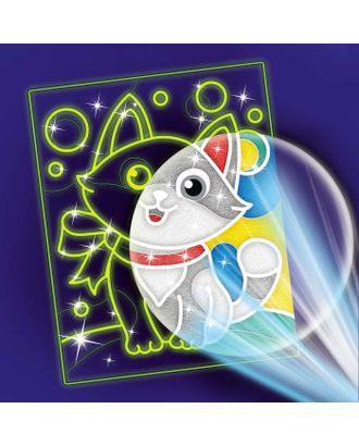 """Лунная фреска """"Самый милый кот"""", светящийся песок+блестки арт. СМЛ-14011-1-СМЛ3712508"""