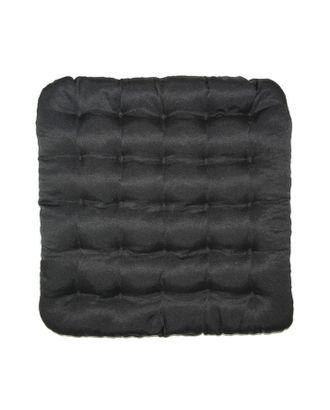 Подушка на стул Уют черный 40х40см лузга  гречихи, грета хл35%, пэ65% арт. СМЛ-26479-1-СМЛ3712534