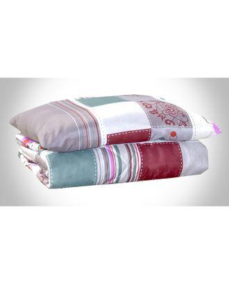 Комплект Дачный: одеяло 1,5сп, синтепон 100 гр/м + подушка 50х70 см, пэ 100% арт. СМЛ-33264-1-СМЛ3712544