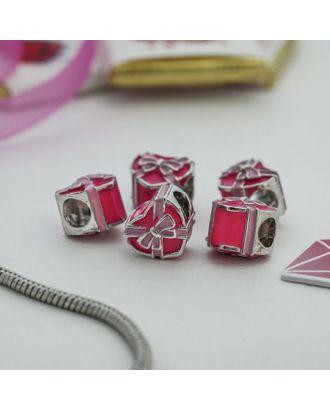 """Талисман """"Сердце"""" подарок, цв.розовый в серебре арт. СМЛ-14061-1-СМЛ3713741"""
