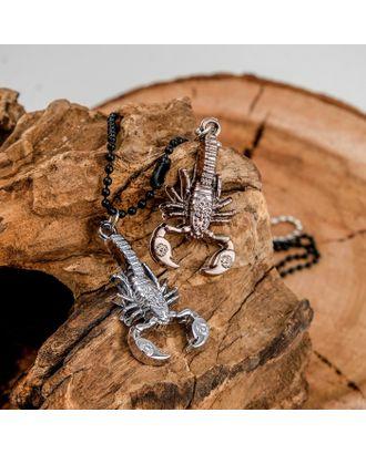 """Кулон """"Неразлучники"""" скорпион, цвет медно-серебряный, 50 см арт. СМЛ-14073-1-СМЛ3714936"""