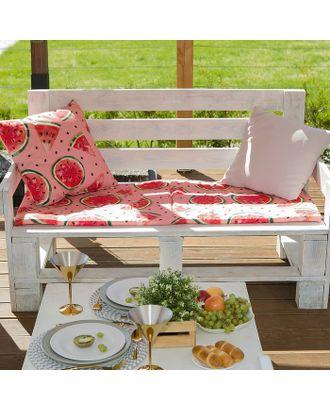 Подушка на трехместную скамейку «Этель» Арбузы, 45×150 см, репс с пропиткой ВМГО, 100% хлопок арт. СМЛ-22977-1-СМЛ3729396