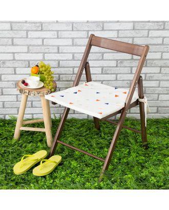 Подушка на стул уличная «Этель» Треугольники, 45×45 см, репс с пропиткой ВМГО, 100% хлопок арт. СМЛ-14154-1-СМЛ3729397