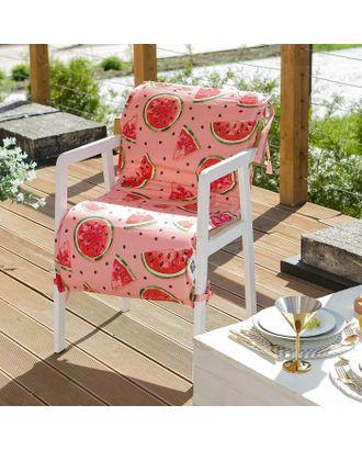 Подушка на уличное кресло «Этель» Арбузы, 50×100+2 см, репс с пропиткой ВМГО, 100% хлопок арт. СМЛ-14157-1-СМЛ3729439