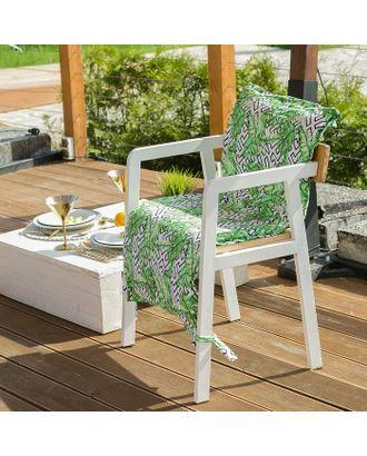 Подушка на уличное кресло Этель «Геометрия», 50 × 100 см + 2 см, репс с пропиткой ВМГО, 100%-ный хлопок арт. СМЛ-14158-1-СМЛ3729441