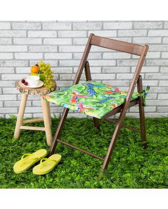 Подушка на стул уличная «Этель» Попугай, 45×45 см, репс с пропиткой ВМГО, 100% хлопок арт. СМЛ-14161-1-СМЛ3729577