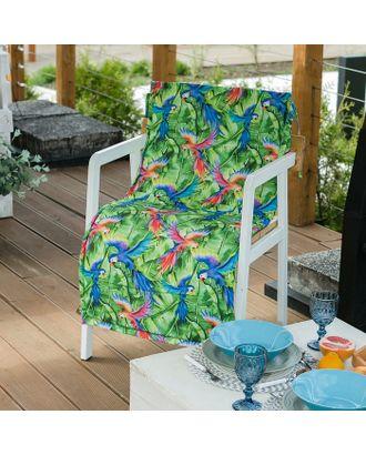 Подушка на уличное кресло «Этель» Попугай, 50×100+2 см, репс с пропиткой ВМГО, 100% хлопок арт. СМЛ-14166-1-СМЛ3729717
