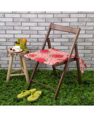 Подушка на стул уличная «Этель» Арбузы, 45×45 см, репс с пропиткой ВМГО, 100% хлопок арт. СМЛ-14204-1-СМЛ3732456