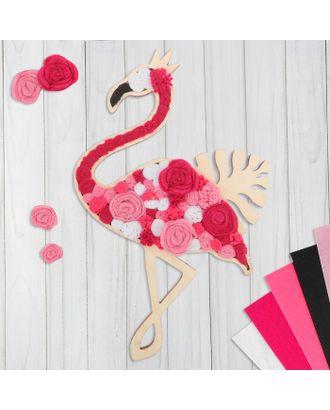 """Картина из фетра """"Волшебный фламинго"""" арт. СМЛ-14220-1-СМЛ3733943"""