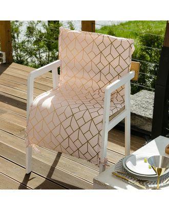 Подушка на уличное кресло Этель «Сетка», 50 × 100 см + 2 см, репс с пропиткой ВМГО, 100%-ный хлопок арт. СМЛ-14244-1-СМЛ3735264