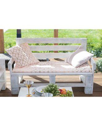 Подушка на двухместную скамейку «Этель» Сетка, 45×120 см, репс с пропиткой ВМГО, 100% хлопок арт. СМЛ-22973-1-СМЛ3735291