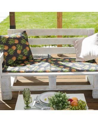 Подушка на двухместную скамейку «Этель» Ананасы, 45×120 см, репс с пропиткой ВМГО, 100% хлопок арт. СМЛ-22971-2-СМЛ3739263