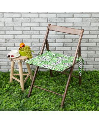 Подушка на стул уличная «Этель» Геометрия, 45×45 см, репс с пропиткой ВМГО, 100% хлопок арт. СМЛ-14257-1-СМЛ3739266