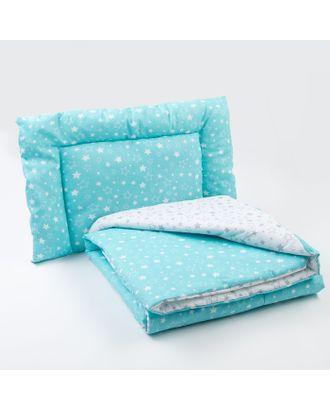 Комплект в кроватку (одеяло, подушка), цвет серый/бирюзовый арт. СМЛ-14268-1-СМЛ3740129