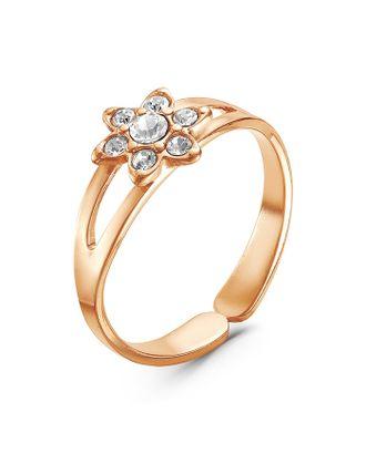 """Кольцо позолота """"Цветок"""" мини, цвет белый, безразмерное арт. СМЛ-26518-1-СМЛ3744956"""