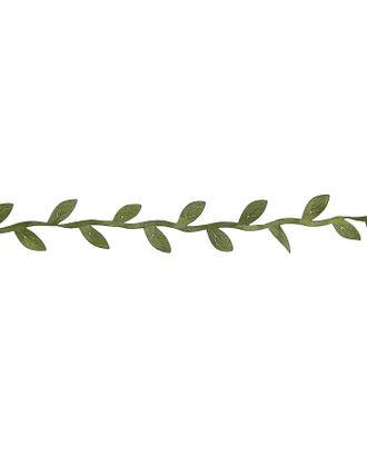 """Тесьма текстиль """"Листья зелёные"""" ширина 2,5 см намотка 2,5 метра арт. СМЛ-119811-1-СМЛ0003744983"""